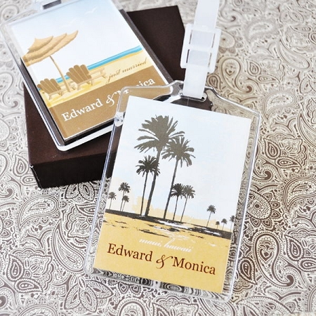Personalized Luggage Tag Wedding Favors - Acrylic Luggage Tag ...