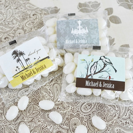 Elite Design Personalized Jelly Bean Pack Wedding Favors