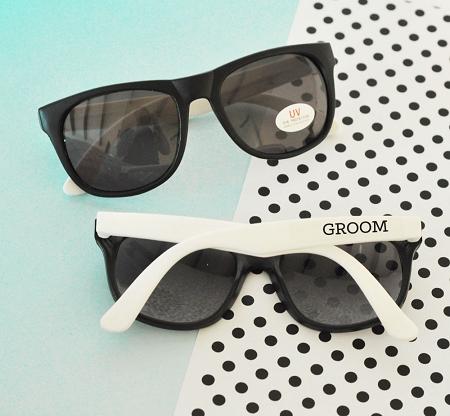 WhiteBlack Groom Groomsman Sunglasses Bachelor Party Sun