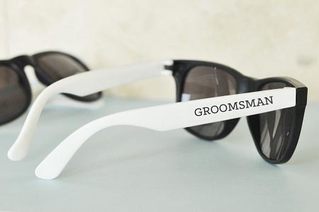 White Black Groom Amp Groomsman Sunglasses