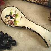 Spoon Rest with Red Wine Theme