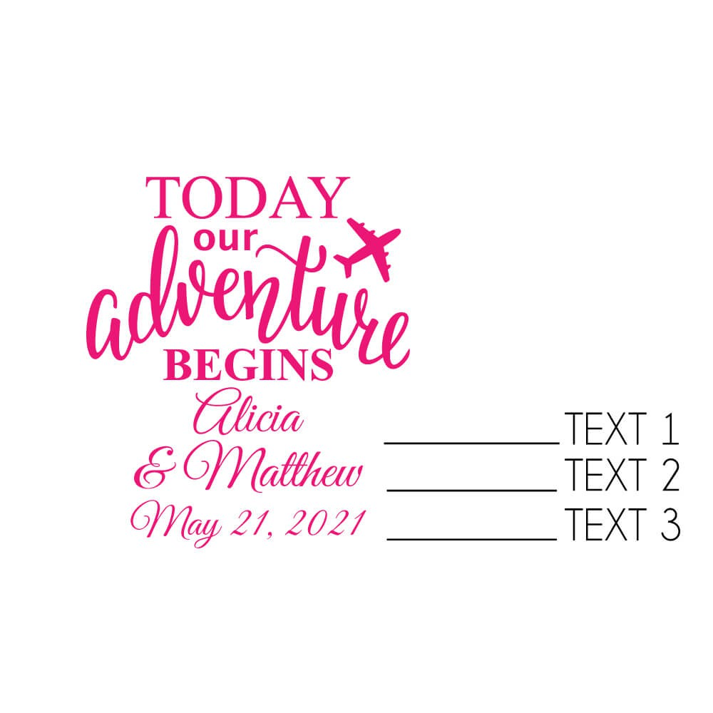 ab04f13917b Today Our Adventure Begins Personalized Stemless Wine Glass (9 oz or 15 oz)