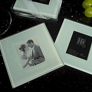 Classic Wedding Photo Coaster Set (set of 2)