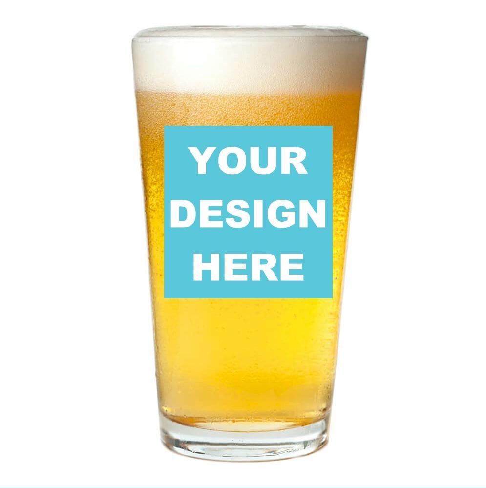 Custom Design Personalized Pint Glass (16 oz)