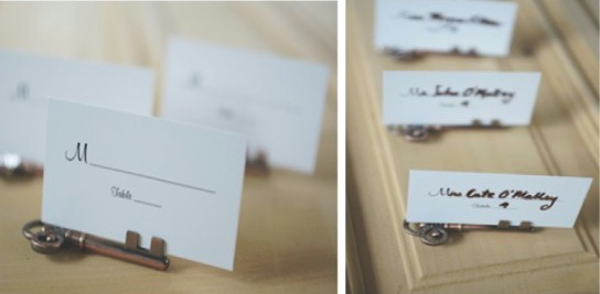 DIY Place Cards for Key To my Heart Theme