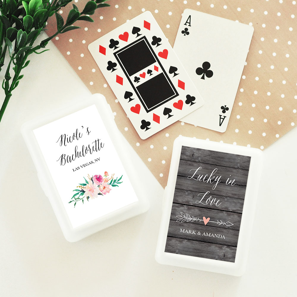 Personalized Playing Card Wedding Favors - Garden Wedding | Floral ...