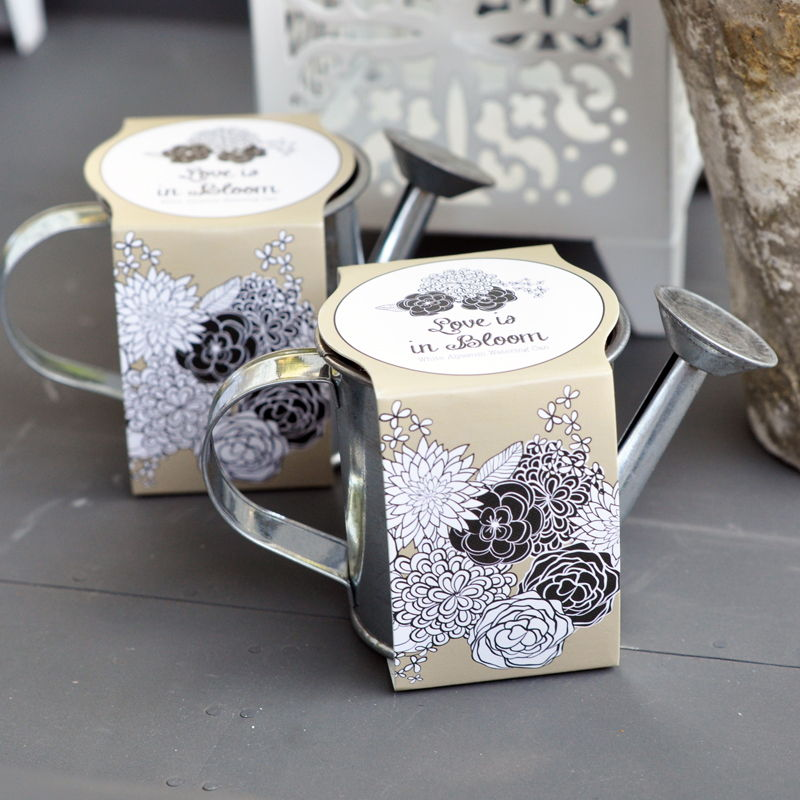 Watering Can Planting Kit Wedding Favors White Alyssum | Garden ...