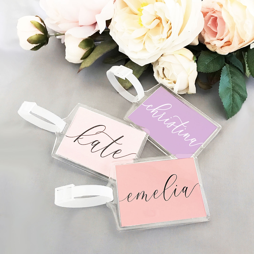 Personalized Bridal Shower Luggage Tag Favors