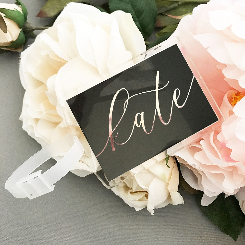 Personalized Bridal Shower Luggage Tag Favors Bachelor
