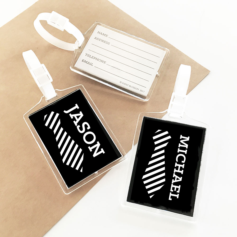 Personalized Luggage Tags Wedding Gift: Personalized Groomsmen Luggage Tags