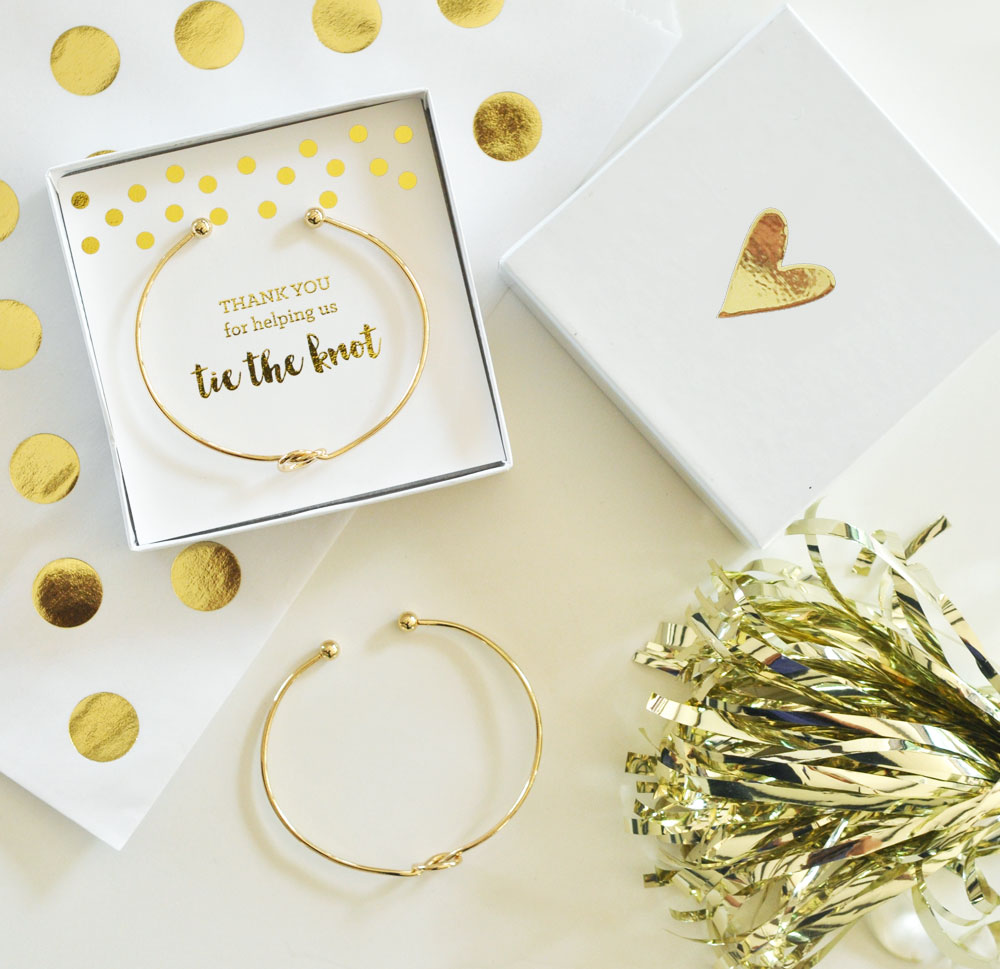 Tie The Knot Bracelet Silver And Gold Bridal Bracelet Maid Of
