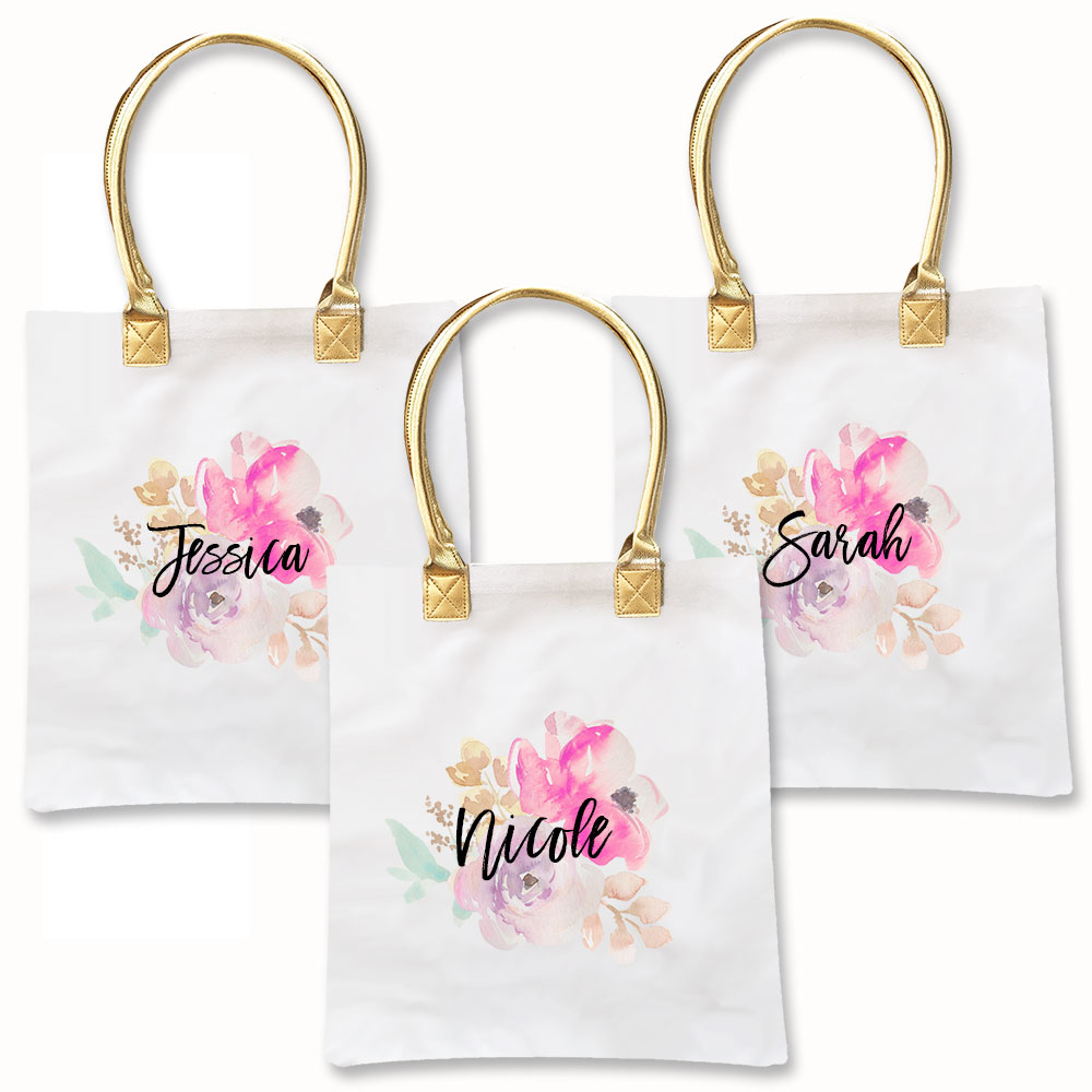 Water Color Tote Bags | Bridal Shower | Bachelorette Party ...