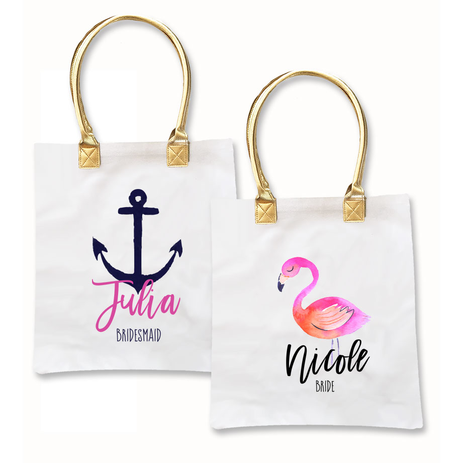 Tropical Beach Tote Bags - Beach Wedding | Destination Wedding Favors