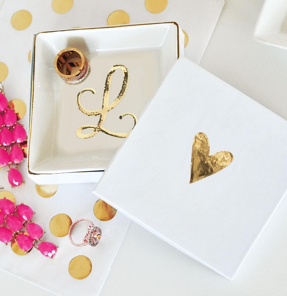 Monogram Ceramic Ring Dish | Ring Dish Personalized | Bridal Shower Gift