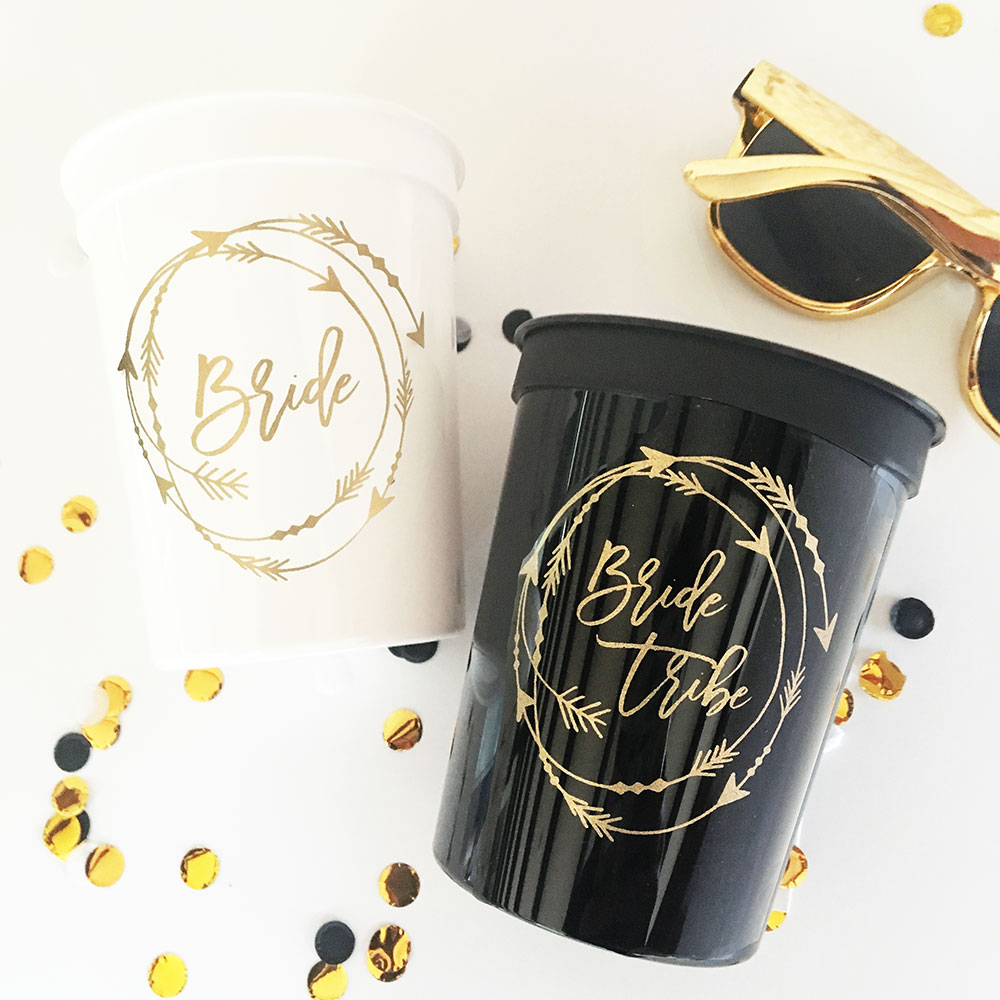 Bride Tribe Stadium Cups - Bridal Shower Party Cups - Bachelorette ...