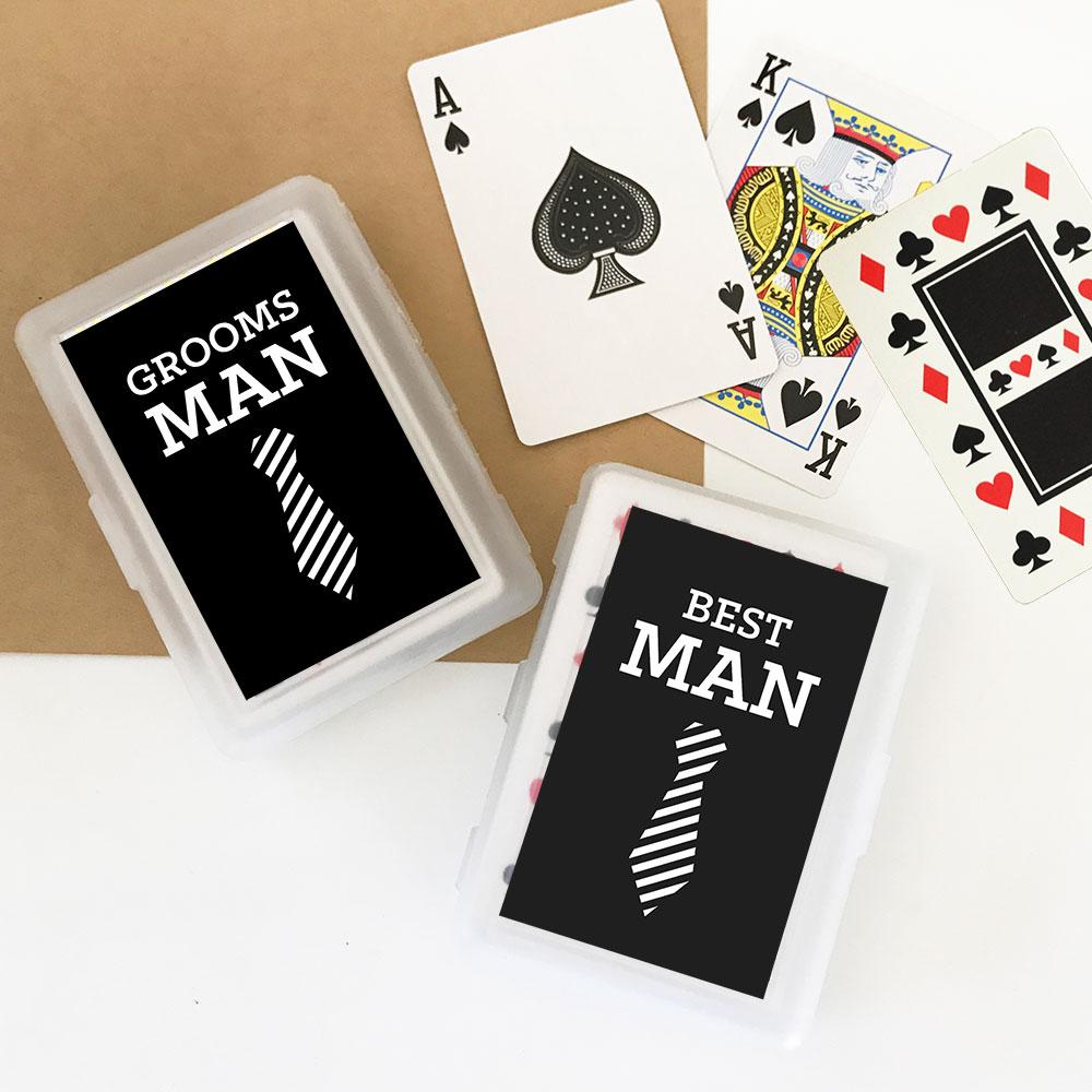 Groomsmen Playing Cards Set Of 6