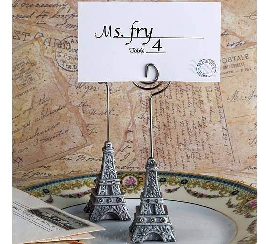 Eiffel tower place card holder