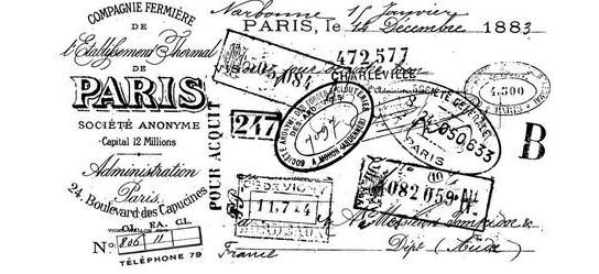 vintage quintessential travel rubber stamps