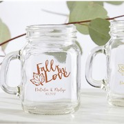 Personalized Mini Mason Jar 4.5 oz -  Fall Wedding