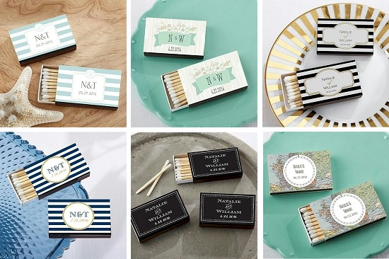 Wedding Matchbox Favors