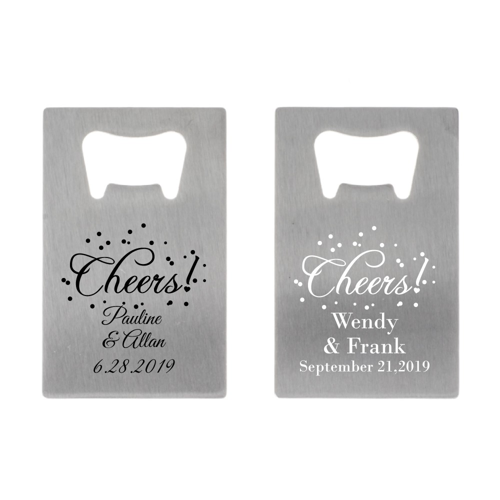 Credit Card Bottle Opener Party Favors Wedding Birthday Anniversary ...