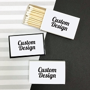 Custom Design Matchboxes with Your Own Sticker Design (Set of 50)
