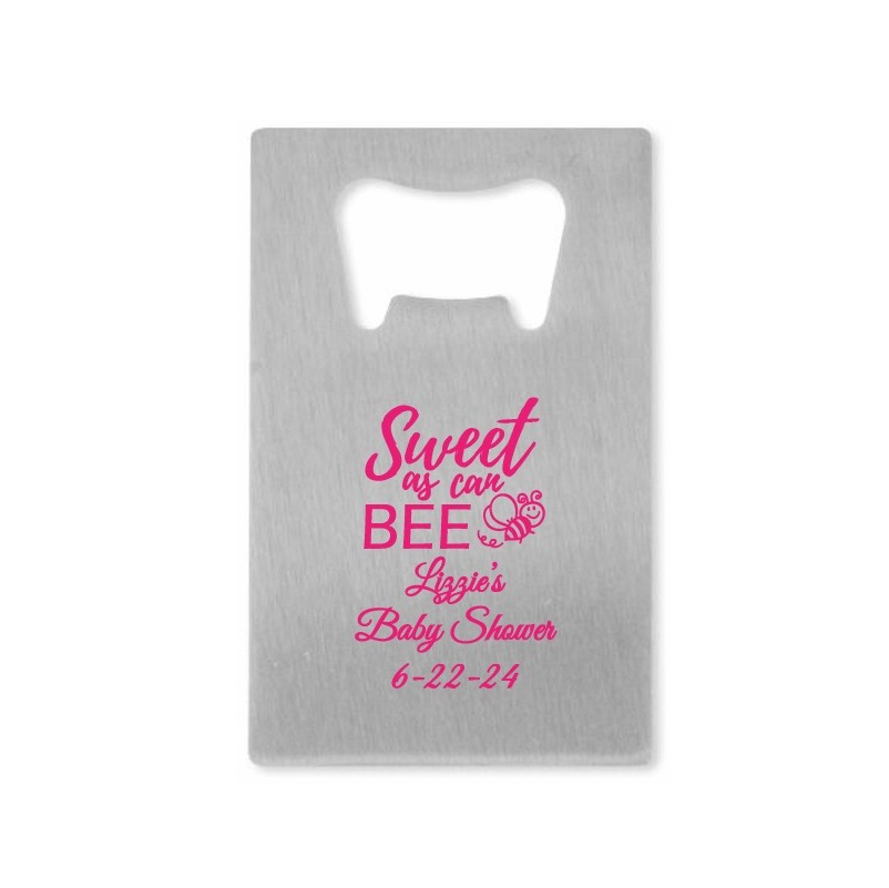 Sweet As Can Bee Personalized Credit Card Bottle Opener