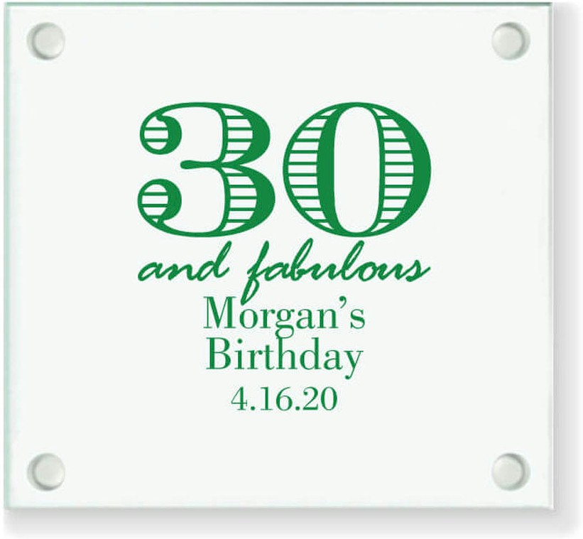 30th Birthday Coaster Party Favors Custom Gift
