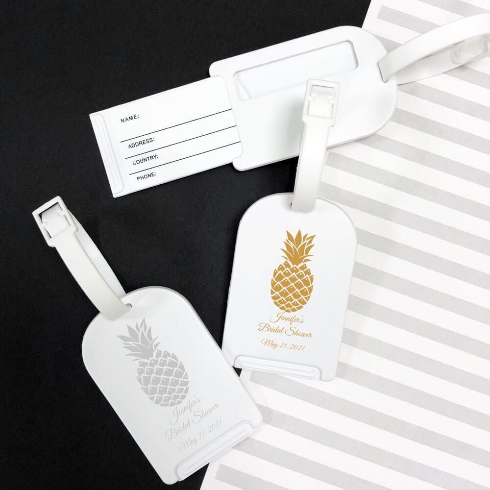 c9e1e1fb0755c Custom Design Luggage Tag Wedding Favors