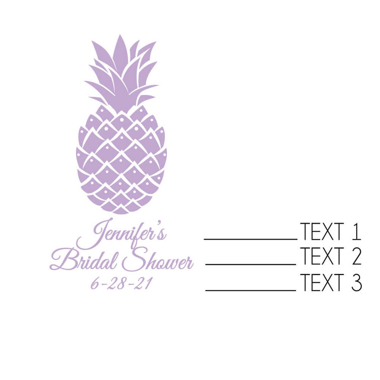 Personalized Strawberry Jam Pineapples and Palms Set of 12 Monogram Watercolor Tropical Luau Bridal Shower Tea Party Guest Host Favors