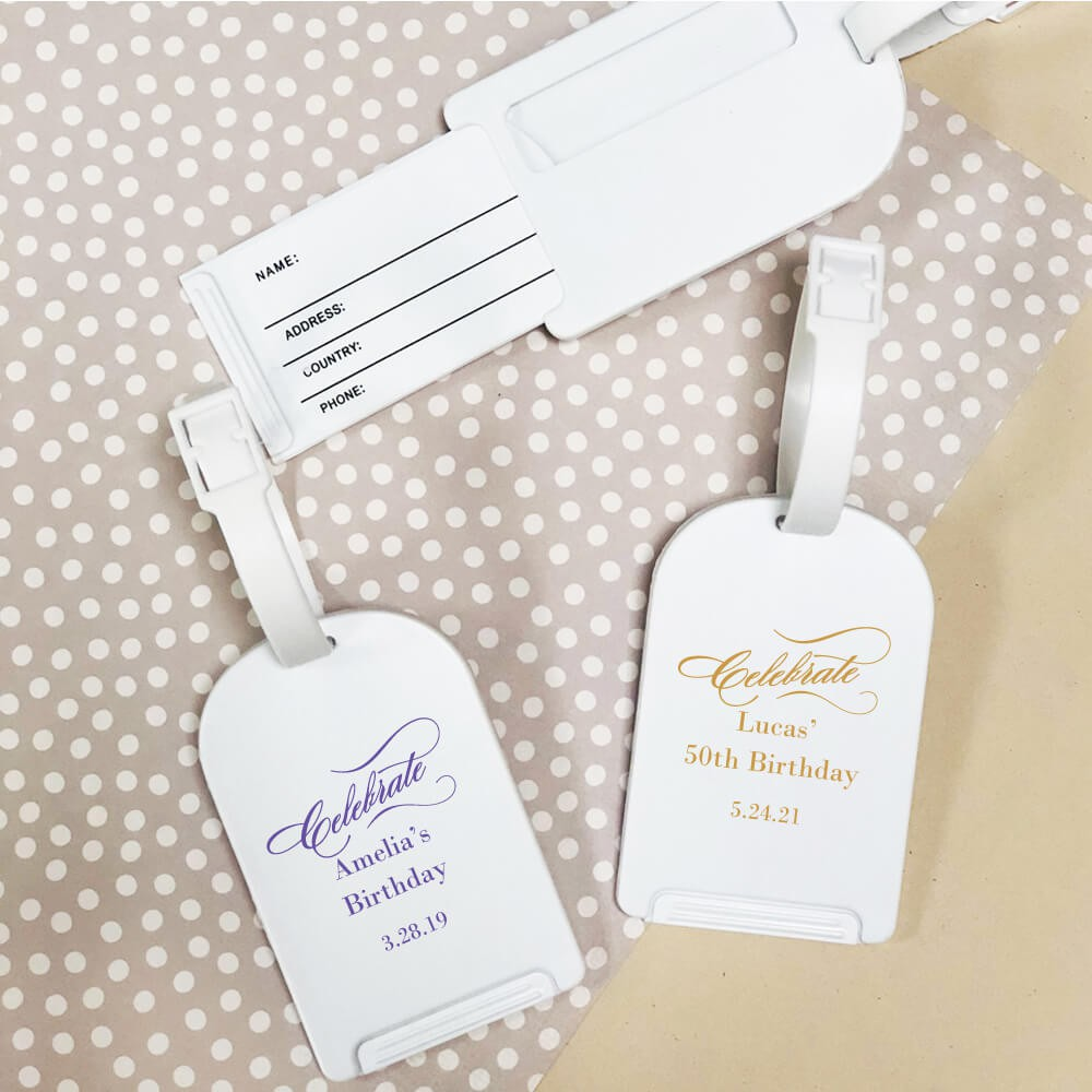 Personalized Luggage Tag Party Favors, Travel Favor