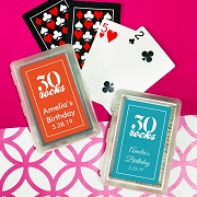 Thirty Rocks Playing Cards with Personalized Stickers