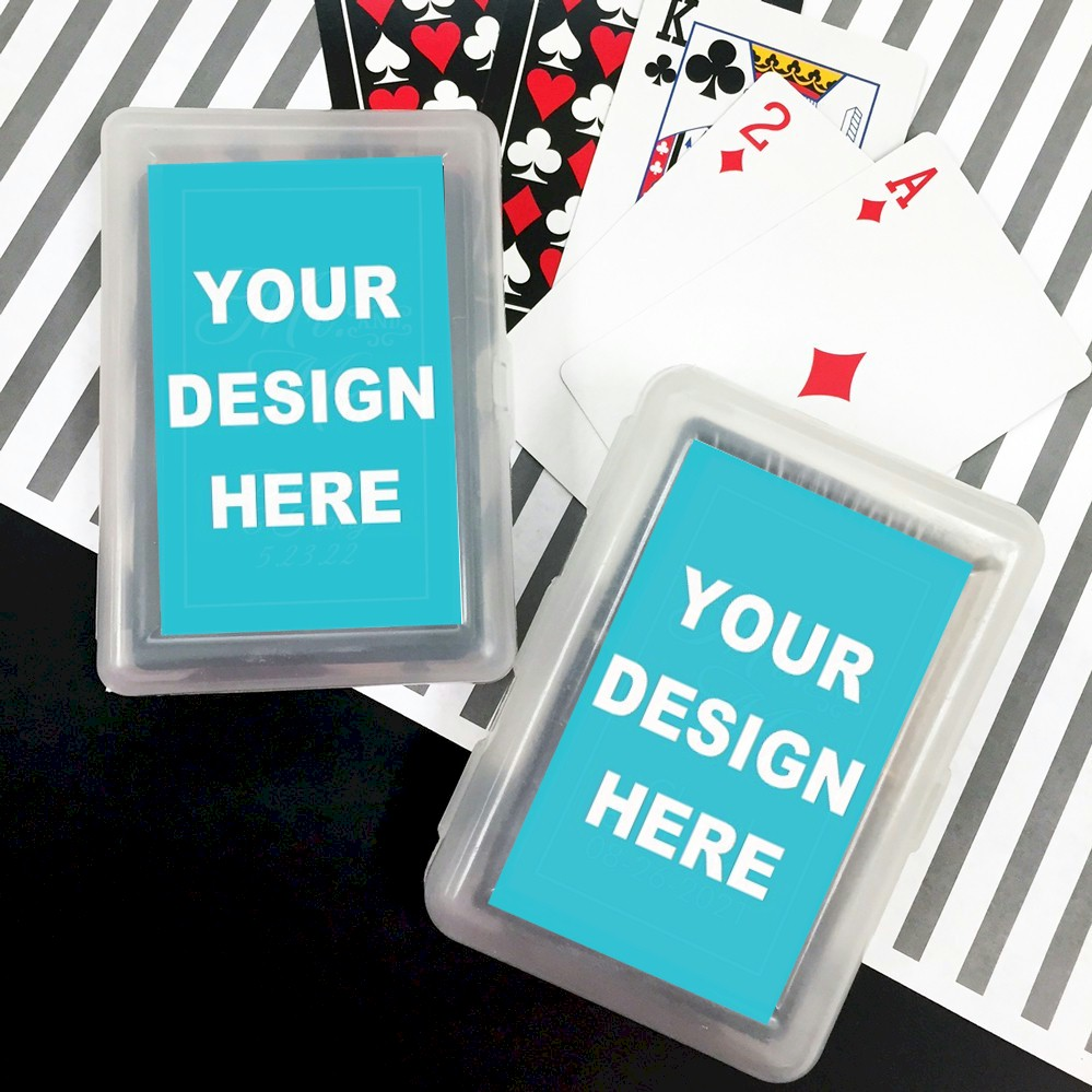 Deck of playing cards party favors create your own label design