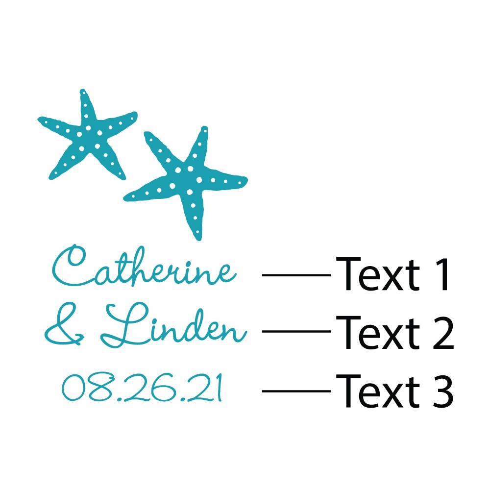 24 Silver Starfish Design Keychain Beach Theme Bridal Shower Wedding Favors