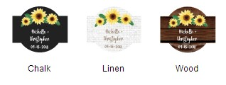 Sunflower Design Labels