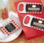 Personalized Silver Bottle Opener Outdoor Party Favors - BQQ - Picnic