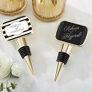 Personalized Gold Bottle Stopper (Epoxy Dome) - Classic Design
