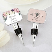English Wedding Garden Theme Personalized Wine Stopper