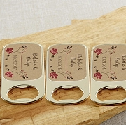 Fall Wedding Personalized Gold Bottle Opener