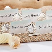 Silver Seashell Place Card Holder (set of 6)