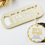 Gold Party Bottle Opener Favors