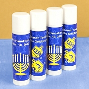 Hanukkah Lip Balm Favors (White Tube)