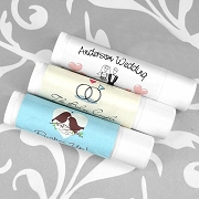 Personalized Wedding Lip Balm (White Tube)
