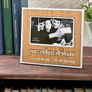 Graduation Photo Frame with Bamboo Finish and Laser Engraving