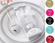 Heart Tea Infuser with Personalized Thank You Tag