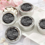 Eat, Drink & Be Married Silver Round Mint Tin (set of 12)