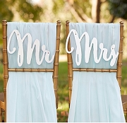 Silver Shimmer Classic Mr. and Mrs. Chair Backers