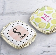 Personalized Silver or Gold  Compact Mirror - Monogram