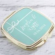 Something Blue Personalized Gold Compact Mirror