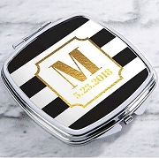 Personalized Silver or Gold Compact - Classic Wedding